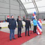 На стадионе «Строитель» открылся тентовый хоккейный корт