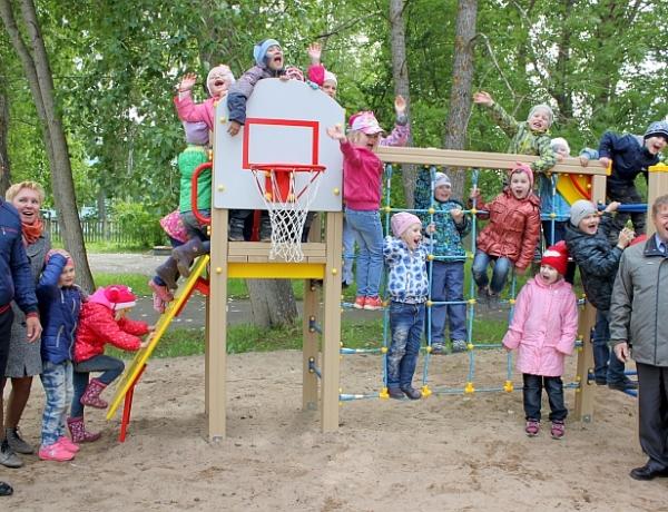 В «Дружном хороводе» открыли новую детскую спортивную площадку